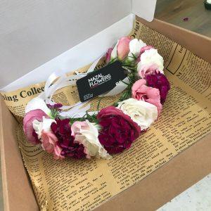 זר פרחים לראש ליום הולדת